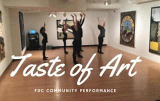 Footprints Dancers Perform at the Woodstock Art Gallery's Taste of Art Event