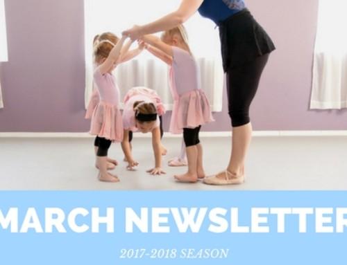 Spring is Coming – March Newsletter | Woodstock Dance Studio