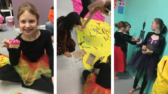 Monster Rice Krispies - Craft Time - Pin the Tutu on the Skeleton Our dancers sure had a lot of fun!