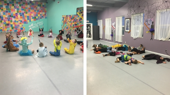 Miss Lainy took on our younger dancers while Miss Chelan tired out the bigger dancers!