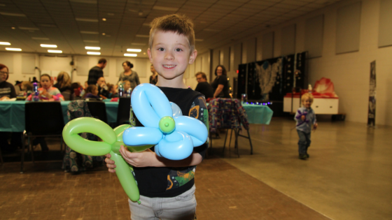This little dancer LOVED his balloon flower!