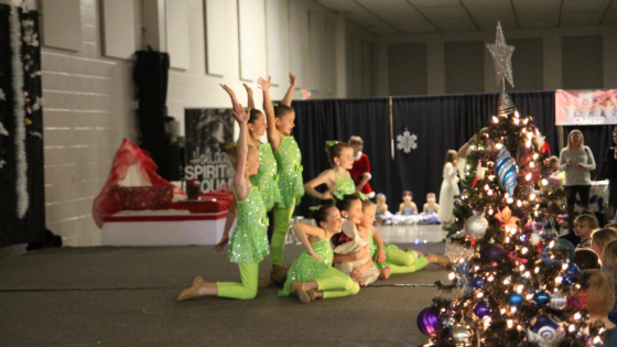 Our Junior Holiday Spirit Squad Team performed with the biggest dancing smiles!