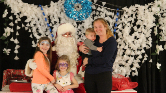 This Footprints Family was extremely happy to get a whole family photo with Santa!