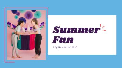 Summer Fun July Newsletter